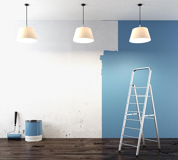 Kayed und Söhne - Malerarbeiten - Streicharbeiten auf Wand in Wohnung