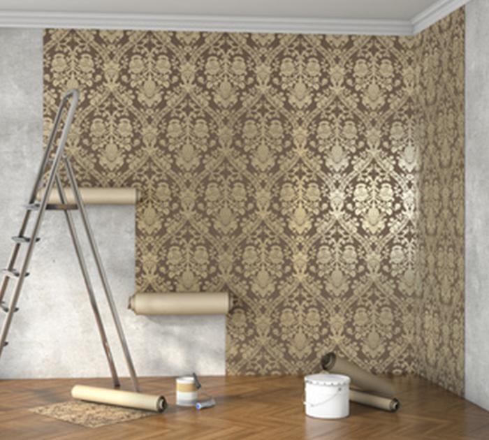 Kayed & Söhne - Tapezierarbeiten - Anbringen einer Tapete mit Muster
