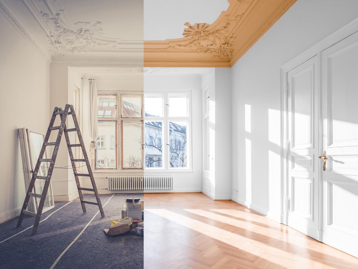 Kayed & Söhne GmbH Malermeisterbetrieb- Altbau-Wohnung renoviert vorher nachher